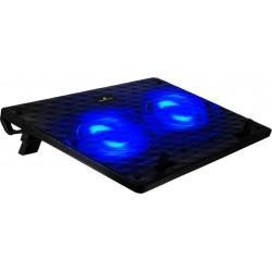 "POWERTECH Βάση & ψύξη laptop PT-738 έως 15.6"", 2x 125mm fan, LED, μαύρο|PT-738"