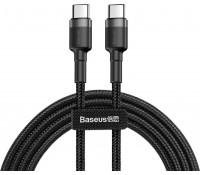 Baseus Cafule Braided USB 2.0 Cable USB-C male - USB-C male Γκρι 1m, CATKLF-GG1