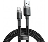 Baseus Cafule Braided USB 2.0 Cable USB-C male - USB-A male Μαύρο 2m, CATKLF-CG1