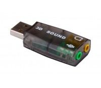 USB Κάρτα ήχου 5.1CH, με έξοδο μικρόφωνου και ακουστικού, POWERTECH