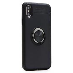 Θήκη Ring TPU για iPhone XR, μαύρη, oem