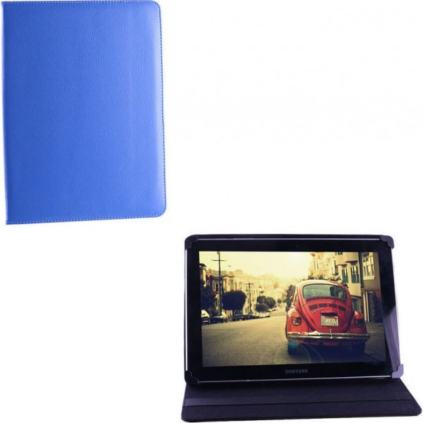 """VOLTE-TEL ΘΗΚΗ TABLET 8.1""""-10.1"""" UNIVERSAL LEATHER BOOK STAND BLUE"""