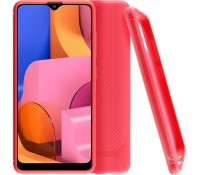 """VOLTE-TEL ΘΗΚΗ SAMSUNG A20s A207 6.5"""" CARBON RUGGED CAMERA PROTECTIVE RED"""