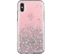 Star Glitter Shining Cover for iPhone XS pink