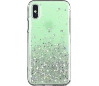 Star Glitter Shining Cover for iPhone XS green
