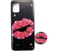 Θήκη BackCover με Pop Holder για Samsung Galaxy A71 - Kiss