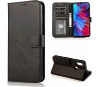 Θήκη Wallet Vintage Book Case Πορτοφόλι για Samsung Galaxy A21s- Μαύρο
