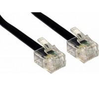 POWERTECH Καλώδιο Τηλεφώνου RJ11 6P4C CAB-T010, μαύρο, 5m