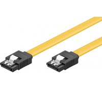 POWERTECH Καλώδιο SATA III 7-pin σε 7-pin CAB-W024, Metal Clip, 0.5m