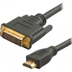 POWERTECH Καλώδιο HDMI 19-pin male σε DVI 24+1 male, 1.5m