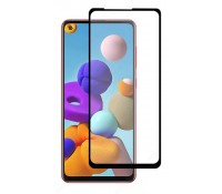 POWERTECH Tempered Glass 5D, full glue, για Samsung A21s & A21, μαύρο