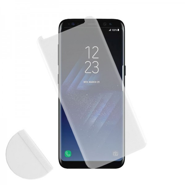 IDOL 1991 TEMPERED GLASS SAMSUNG S8+ G955 9H 0.30mm 3D FULL GLUE SEMI CURVED TRANSPARENT + SQUEEZY CARD
