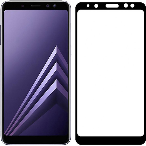 POWERTECH Tempered Glass 3D, Samsung A8 Plus 2018, full glue, μαύρο|TGC-0151
