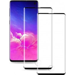 Tempered Glass 3D Half Glue SAMSUNG S10, Black, POWERTECH