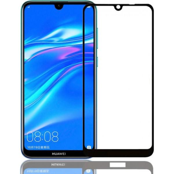 POWERTECH Tempered Glass 5D για Huawei Y8p, full glue, μαύρο