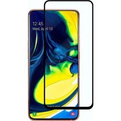 POWERTECH Tempered Glass 5D Full Glue, Samsung A80 SM-A805F/DS, μαύρο