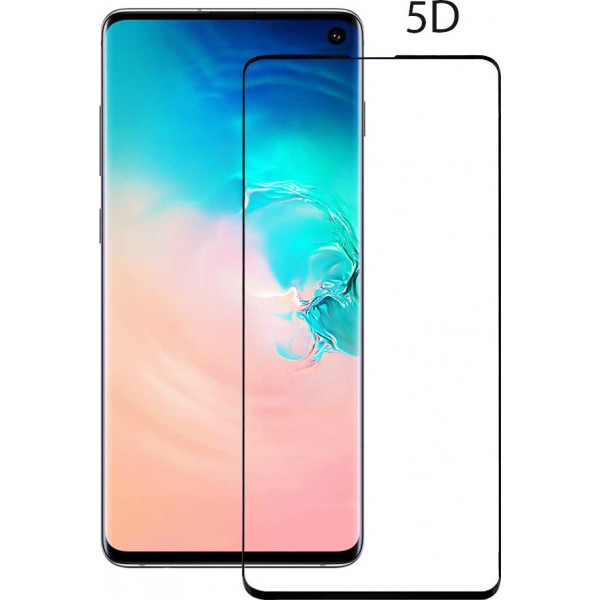 Tempered Glass 5D Full Glue για SAMSUNG S10e, Black, TGC-0259, POWERTECH
