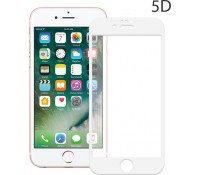 POWERTECH Tempered Glass 5D Full Glue για iPhone 8, White
