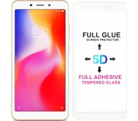 POWERTECH Tempered Glass 5D Full Glue για Xiaomi Redmi 6/6A, White