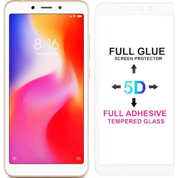 POWERTECH Tempered Glass 5D Full Glue για Xiaomi Redmi 6/6A, White