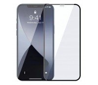 POWERTECH Tempered Glass 5D, full glue, iPhone 12 Pro Max, μαύρο