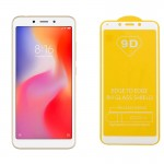 "IDOL 1991 TEMPERED GLASS XIAOMI REDMI 6A/REDMI 6 5.45"" 9H 0.25mm 9D FULL GLUE SPECIAL FULL COVER WHITE"