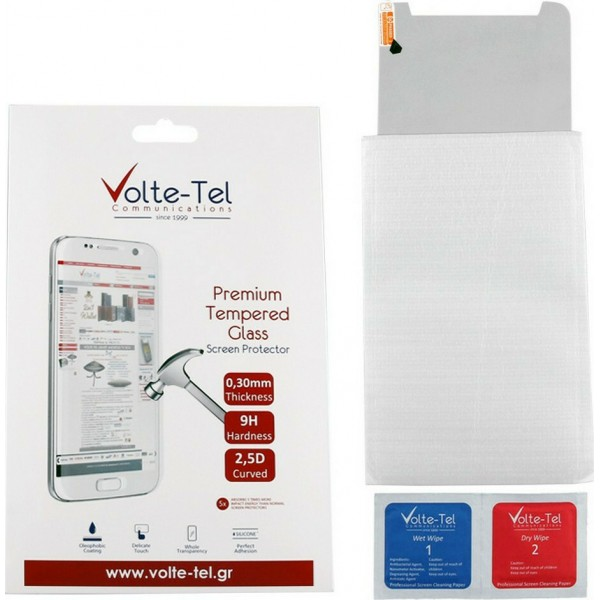 "VOLTE-TEL TEMPERED GLASS SAMSUNG TAB A7 2020 T500/T505 10.4"" 9H 0.30mm 2.5D FULL GLUE FULL COVER"