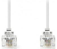 NEDIS TCGP90200WT20| Tηλεφωνικό καλώδιο RJ11 αρσ. - RJ11 αρσ. 2.0 μ., λευκό