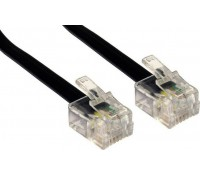 POWERTECH Καλώδιο Τηλεφώνου RJ11 6P4C CAB-T012, μαύρο, 20m