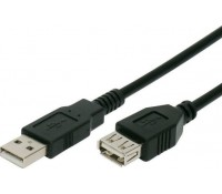 Καλώδιο προέκτασης A/F USB 2.0V (480mbp/s) 5m, μαύρο