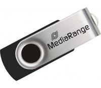 MediaRange USB 2.0 Flash Drive 16GB (Black/Silver) (MR910)